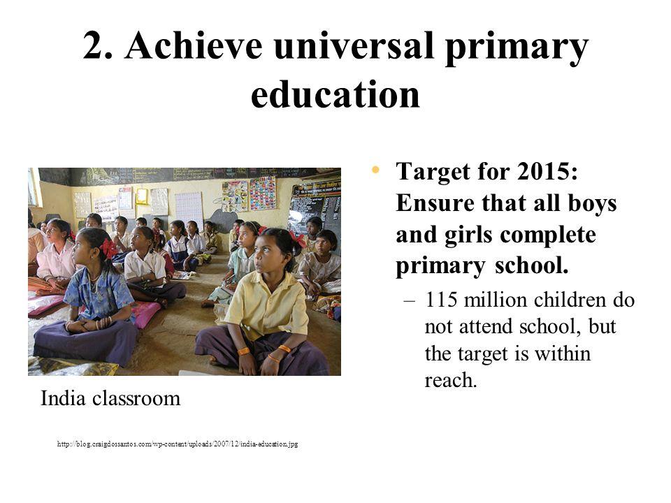 UN Millennium Development Goals Target date: 2015 Text adapted from
