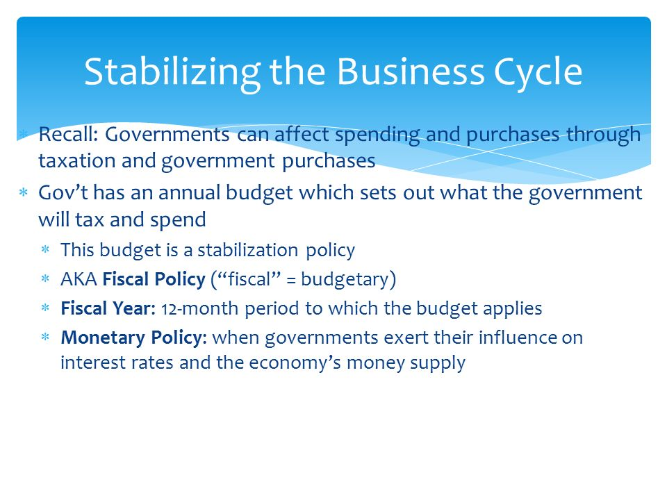 How can we use fiscal policies to stabilise the economy? | world.