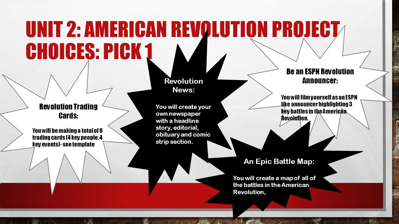 Unit 2 american revolution project choices pick 1 revolution unit 2 american revolution project choices pick 1 revolution trading cards you will maxwellsz