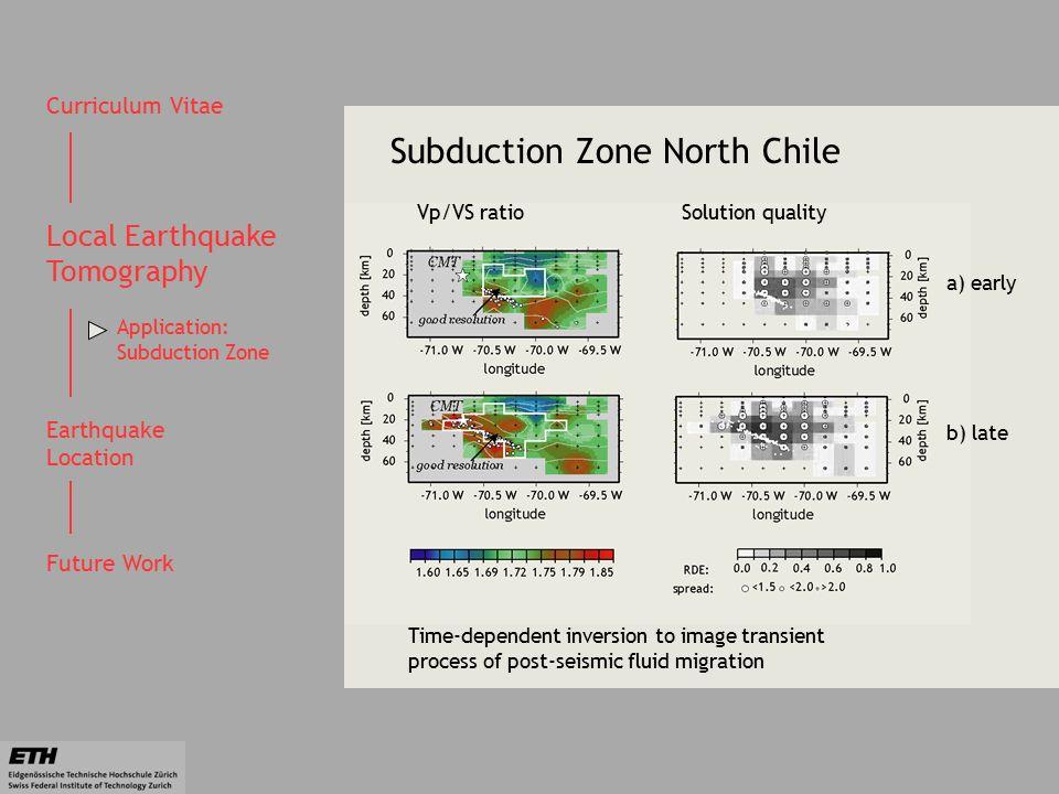 Cv Curriculum Vitae Local Earthquake Tomography Earthquake Location