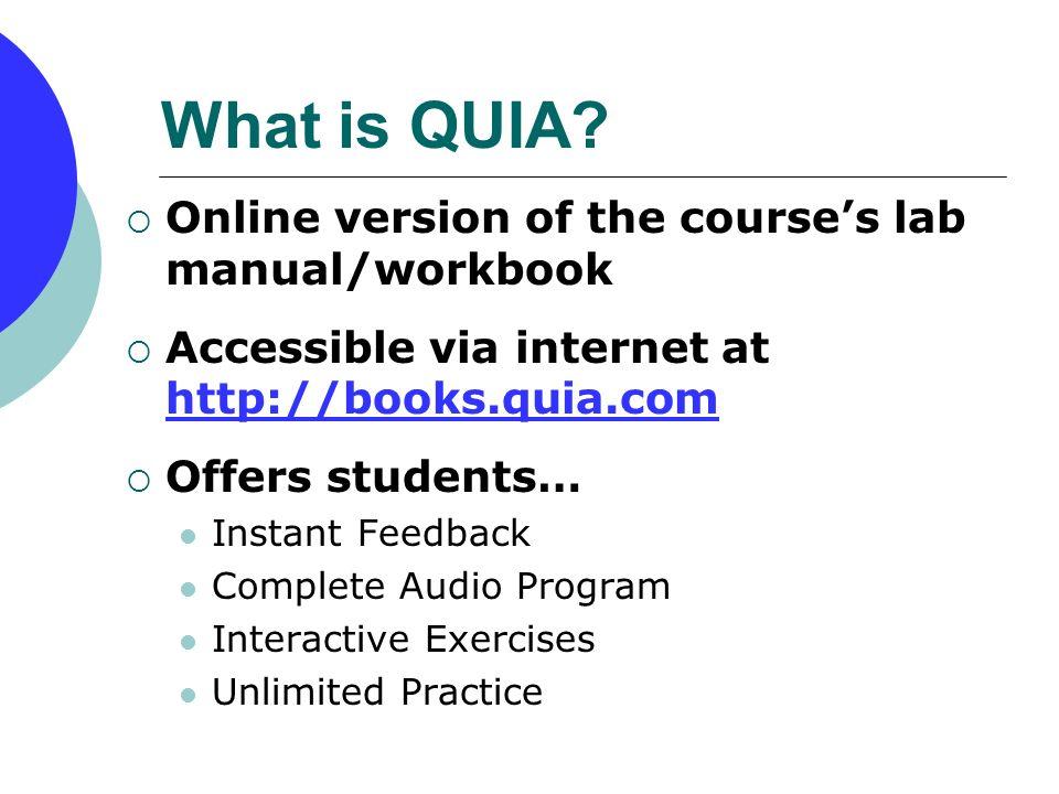 QUIA Online Lab Manual & Workbooks Student Registration Process 6