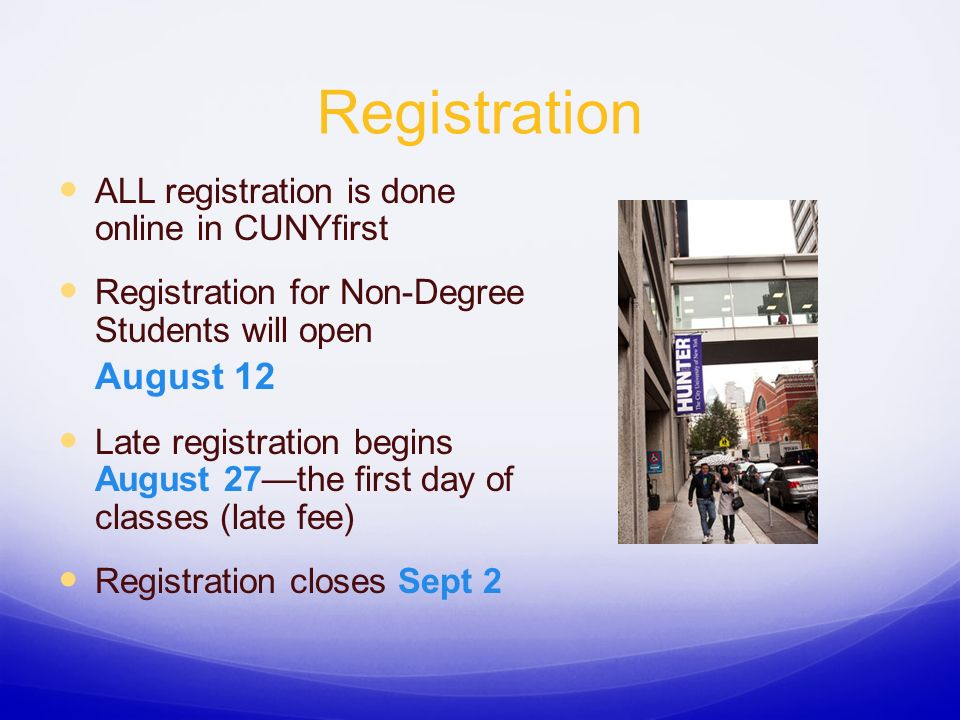 Non-Degree Student Pre-Registration Meeting Fall ppt download