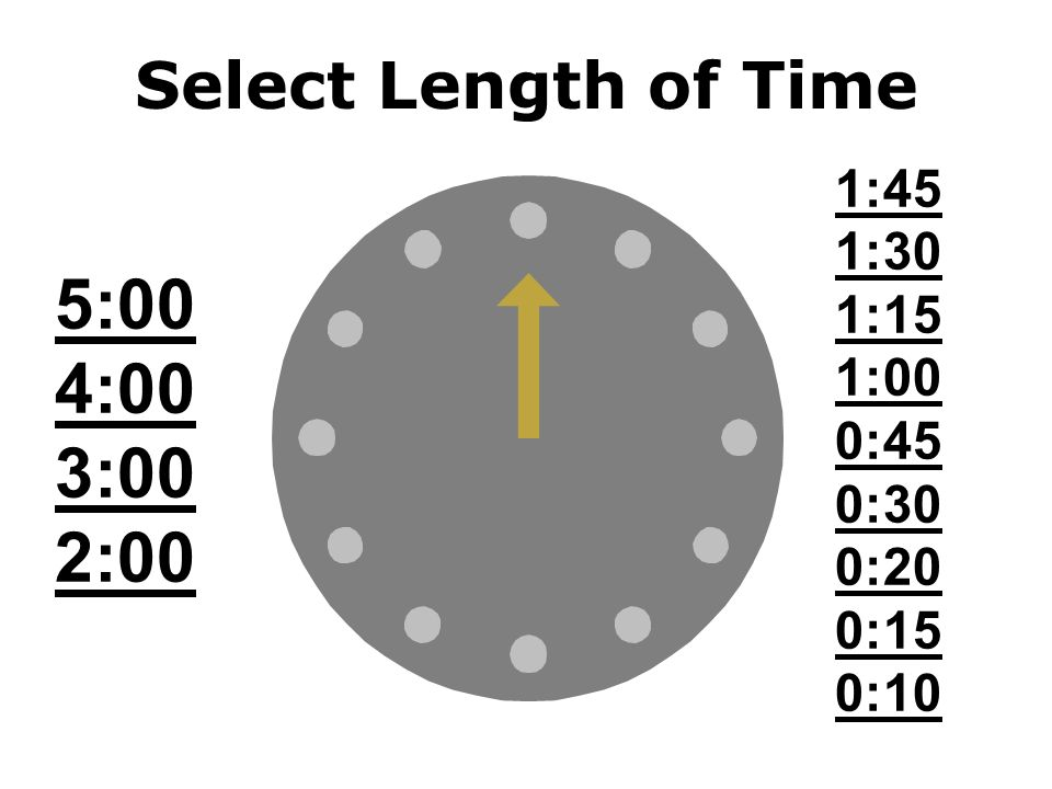 Classroom Timer Select a time to count down from the clock