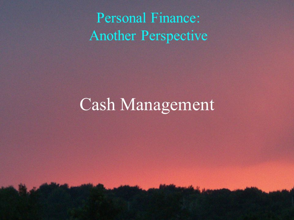 personal finance another perspective cash management ppt download