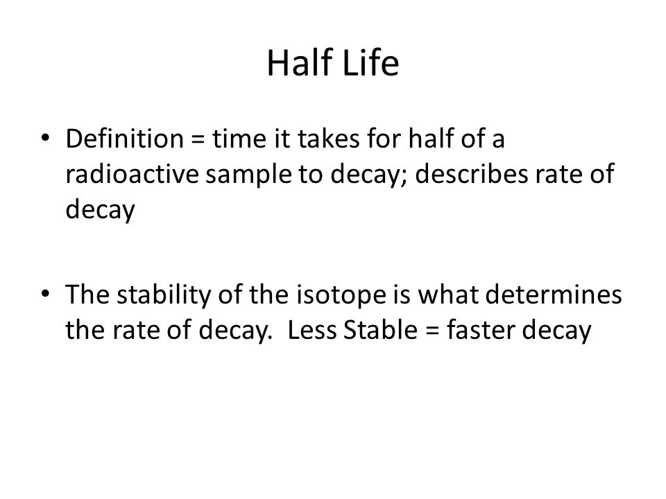 Half Life radioactieve dating definitie