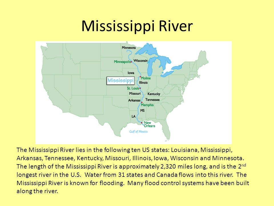 Exploring Us Rivers And Mountain Ranges A River Is A Large Stream - Us-bodies-of-water-map