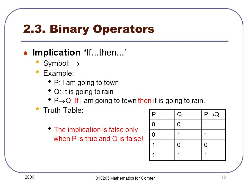 Mathematics For Comter I Lecture 2 Logic 1 Basic Definitions