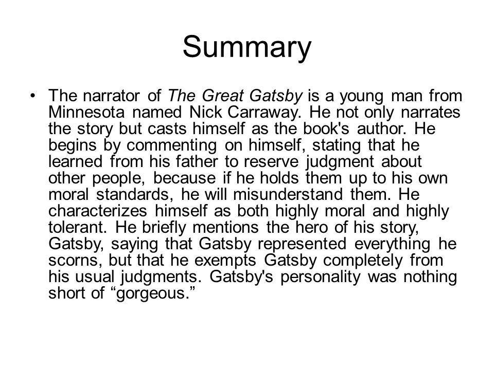 Gatsby the great summary ghostwriter de