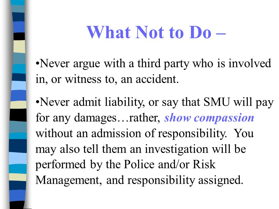 Accident Reporting at SMU RMEH&S Safety Fair July 18, ppt