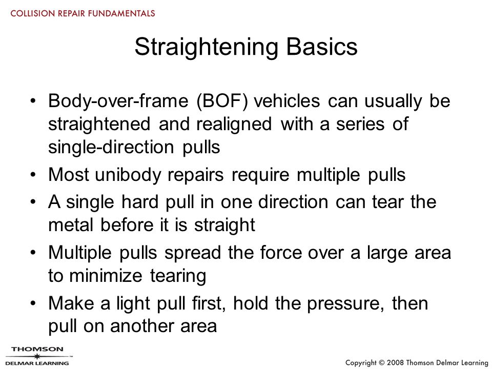Chapter 21 Straightening Full-Frame and Unibody Vehicles. - ppt download