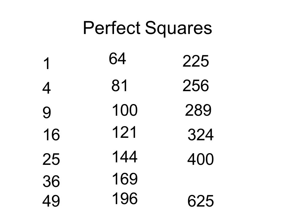 2 Perfect Squares 1 4 9 16 25 36 49 64 81 100 121 144 169 196 225 256 324 400 625 289: Simplifying Radicals Worksheet 1 At Alzheimers-prions.com