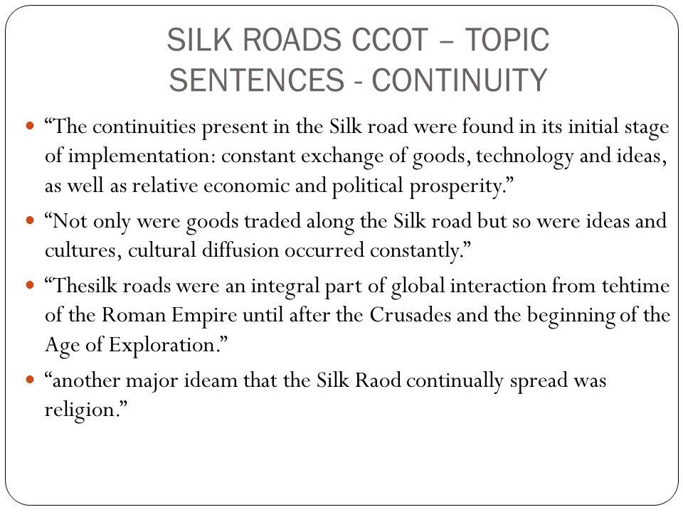 ccot essay on silk roads