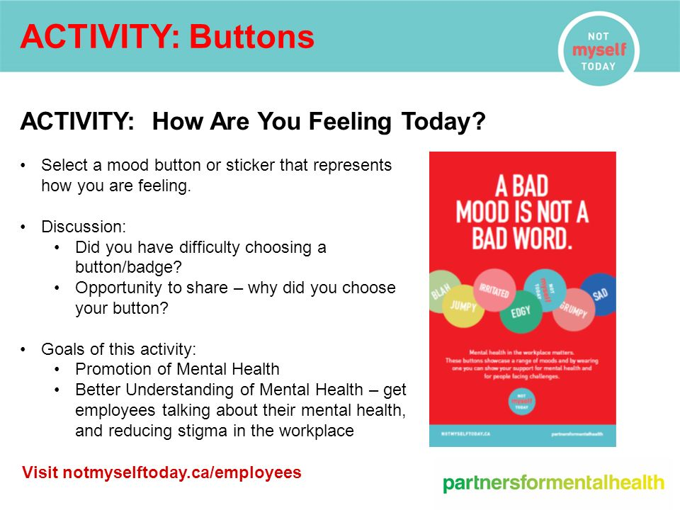 Not Myself Today Building A Mentally Healthy Workplace Ppt Download