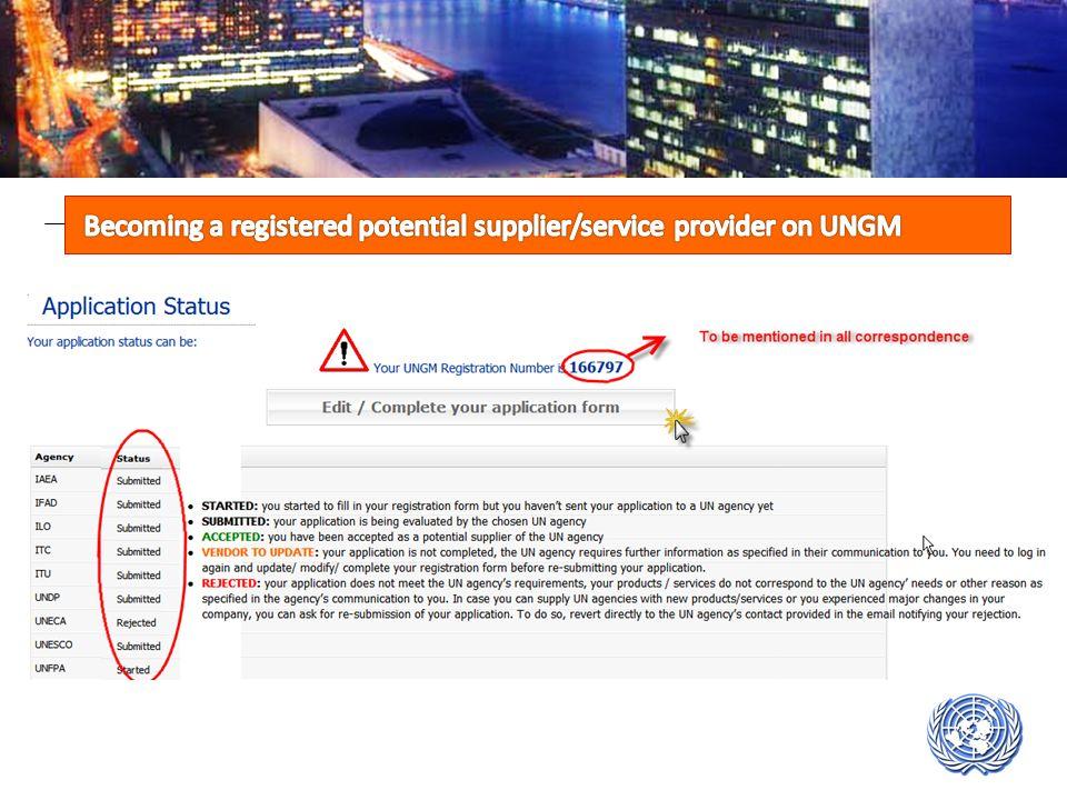 UN System of OrganisationsFinding InformationGeneral UN Procurement