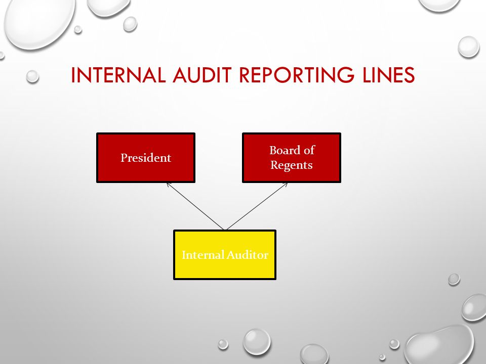6 internal audit reporting lines internal auditor board of regents president