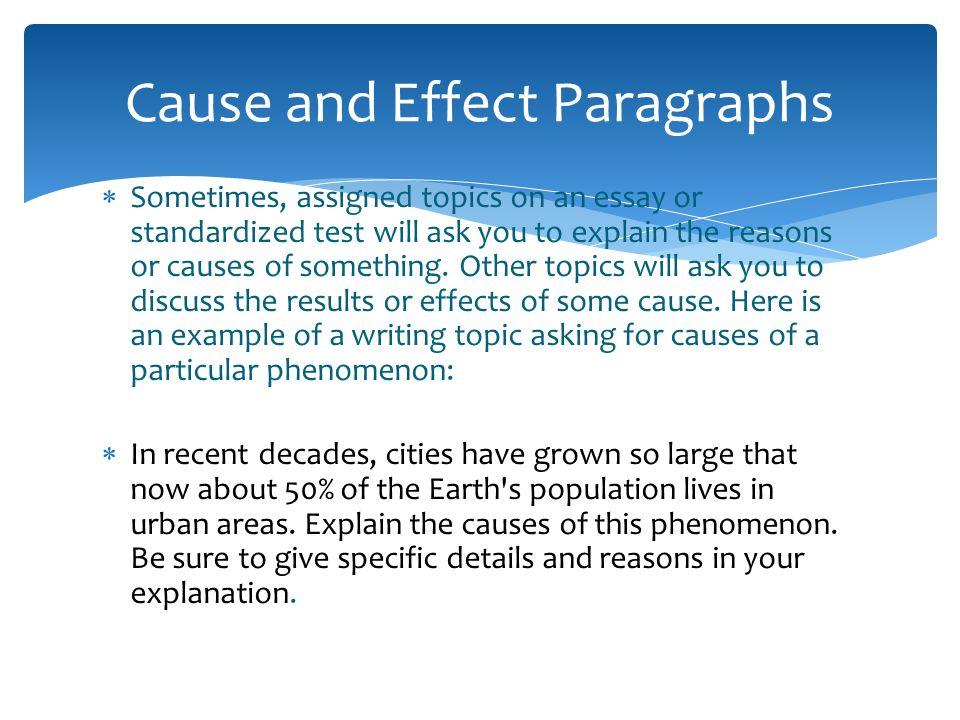 cause effect paragraph