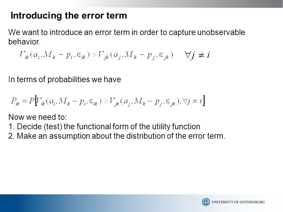 stochastic error