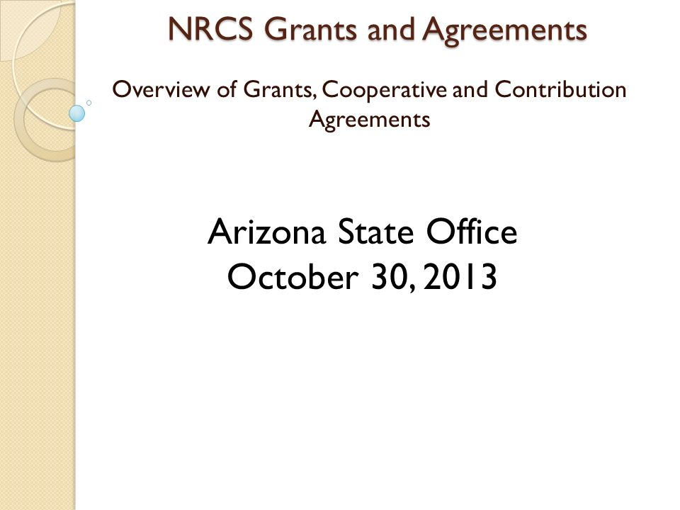 Nrcs Grants And Agreements Overview Of Grants Cooperative And