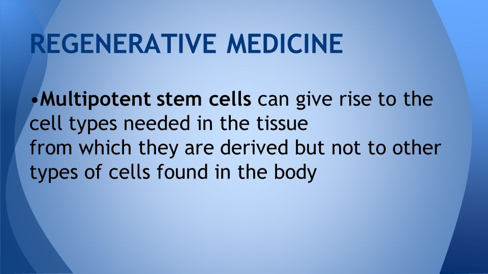 REGENERATIVE MEDICINE BIOMEDICAL TECHNOLOGY 1  Regenerative