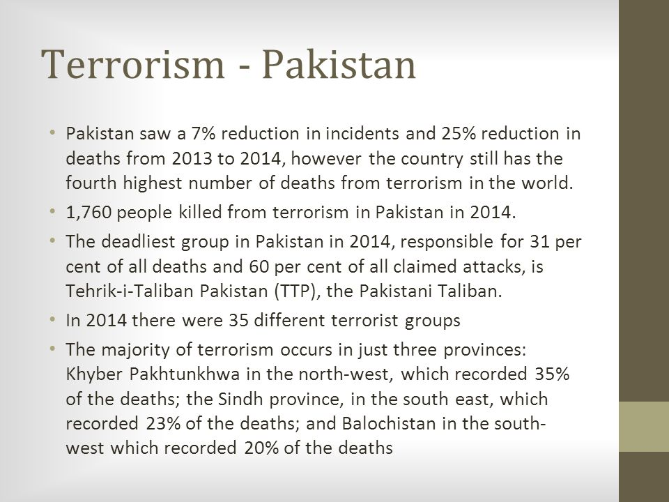 presentation on terrorism in the world