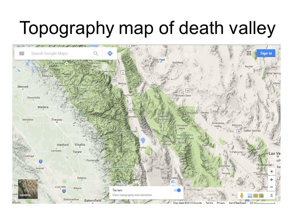 Death Valley Elevation Map.Death Valley National Park By Karl Krusel Death Valley National