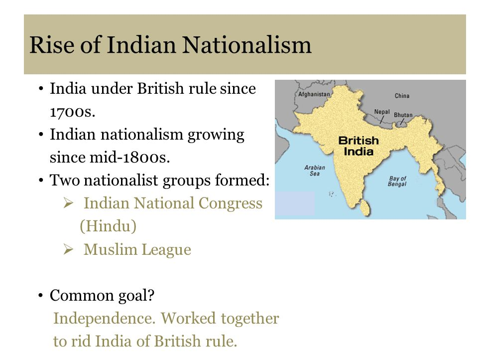 rise of nationalism in india