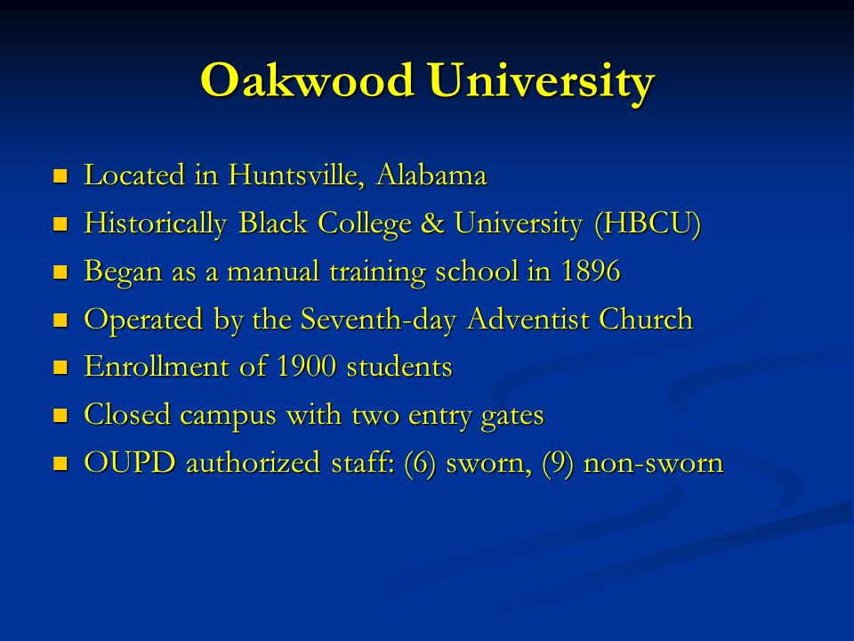 June 23, 2014 From Non-Sworn to Sworn: The Oakwood