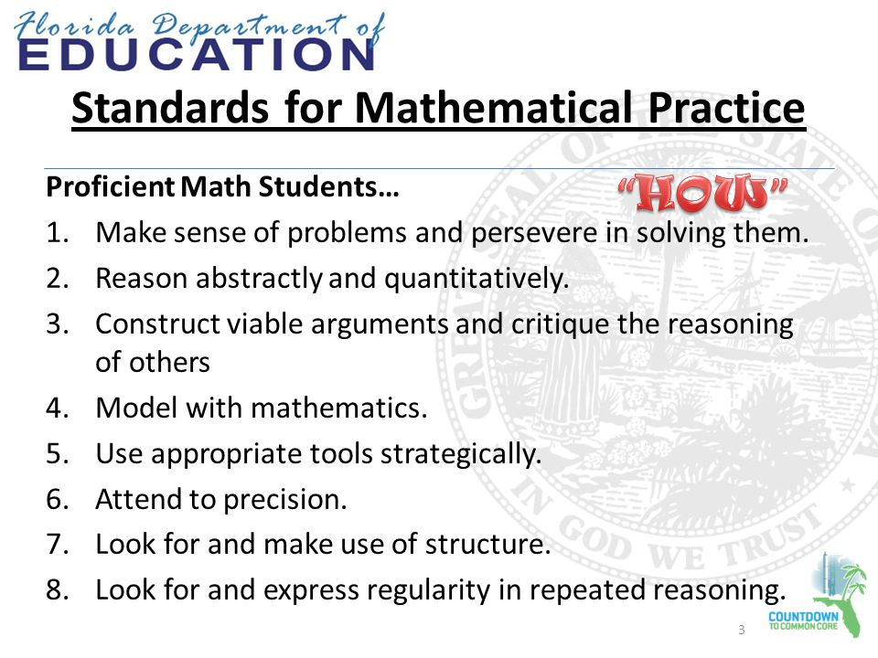 Standards for Mathematical Practice Creating Student Friendly ...