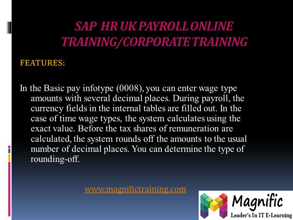 SAP HR UK PAYROLL ONLINE TRAINING/CORPORATE TRAINING  - ppt download