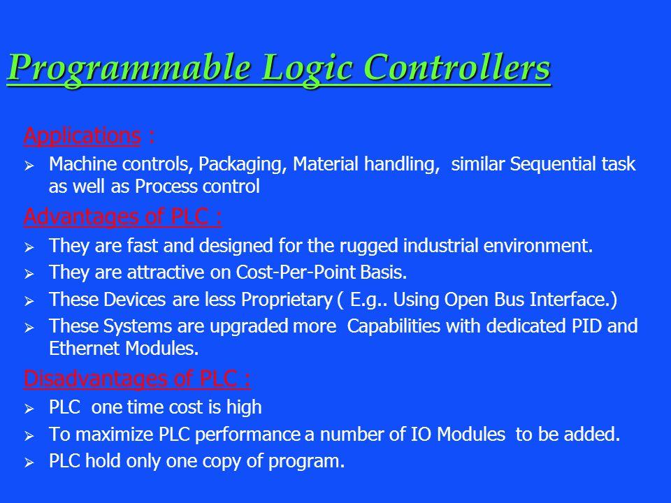 programmable logic controller advantages and disadvantages