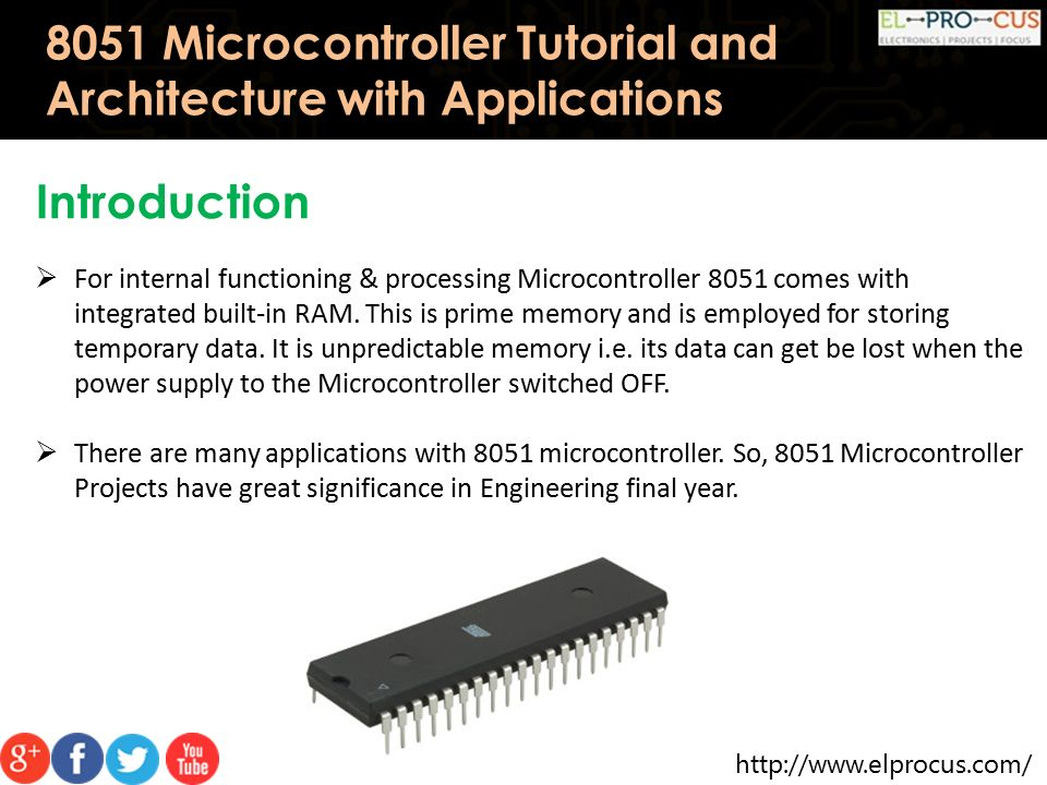 8051 Microcontroller Tutorial and Architecture with