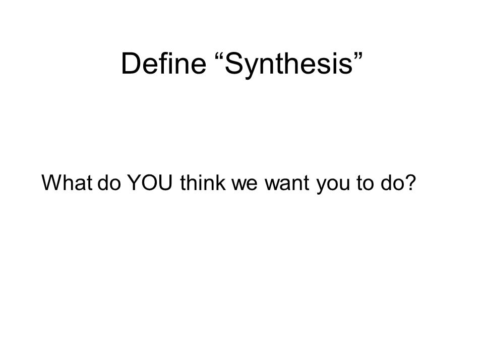 define synthesis paper