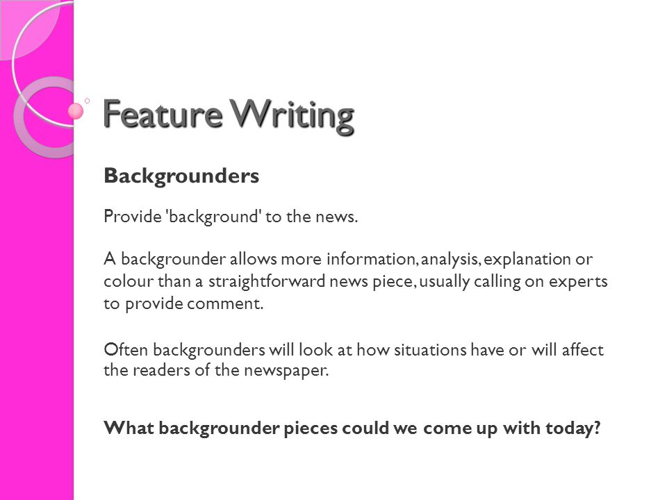 how to cite a backgrounder