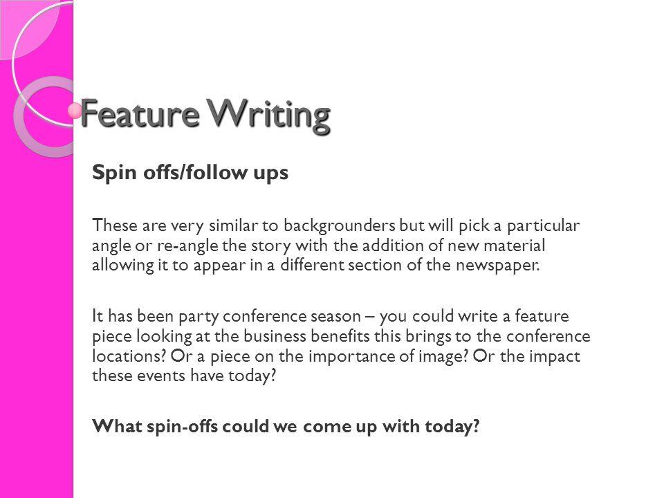 feature write ups