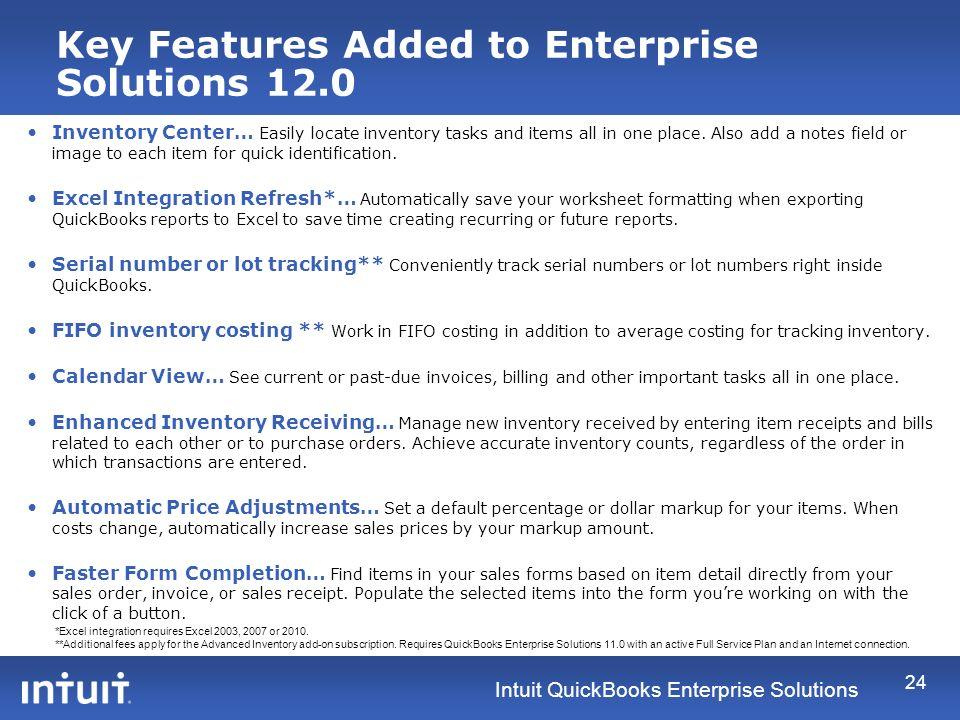 Intuit QuickBooks Enterprise Solutions Intuit ® QuickBooks