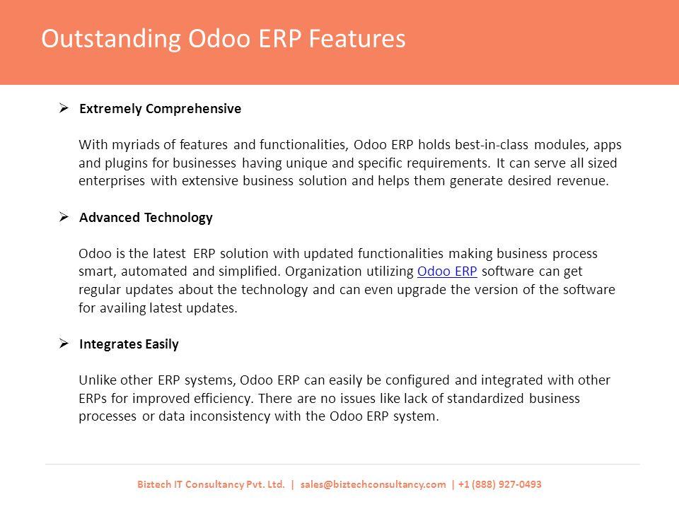 Odoo ERP Features Triggers Seamless Business Performance Biztech IT