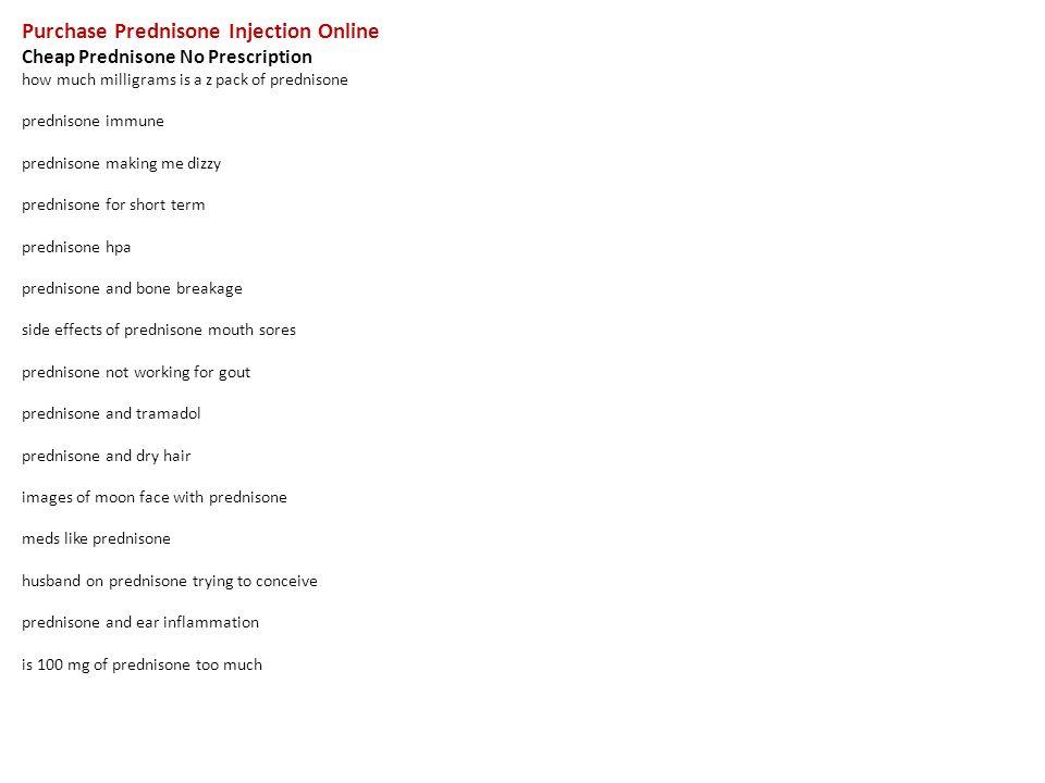 Prednisone order