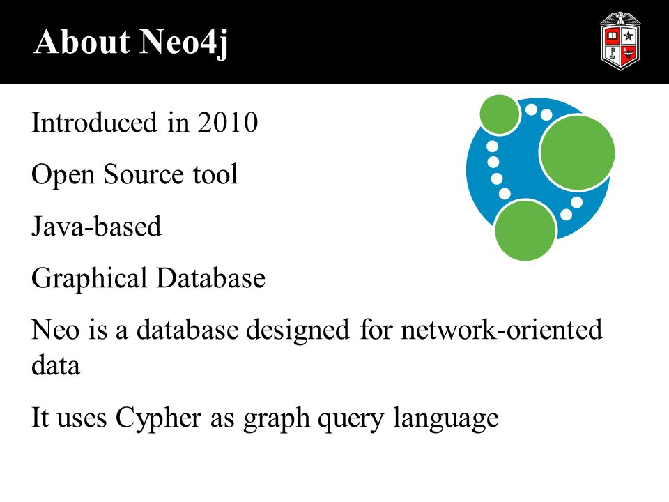 Graph Database - Neo4j ISQS3358, Spring Graph Database A