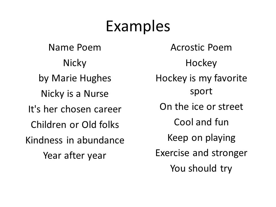 introduction to poetry ms. cerda. types of poetry acrostic & name