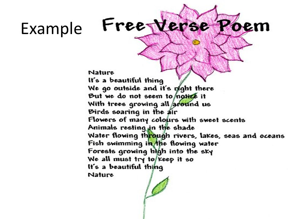 Introduction To Poetry Ms Cerda Types Of Poetry Acrostic Name