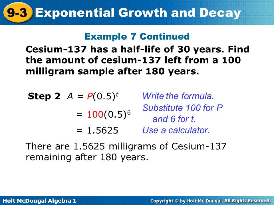 how to calculate half life formula