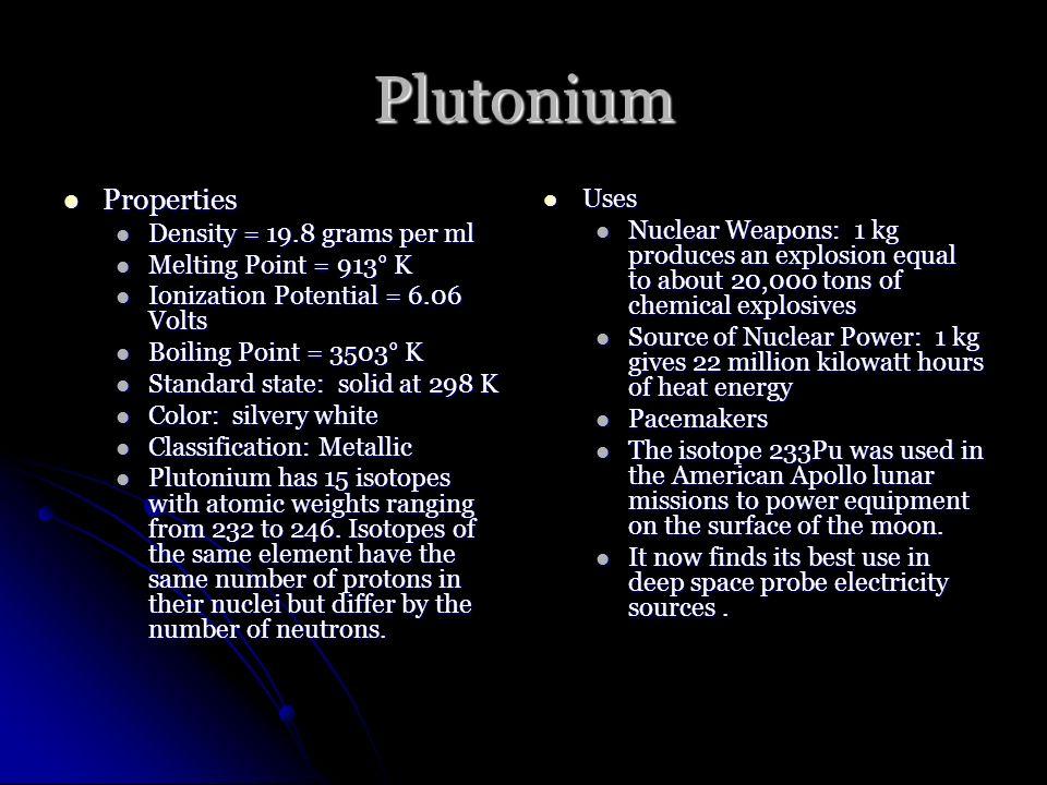 94 Pu Plutonium 244 Plutonium By Declan Mccarthy Ppt Download