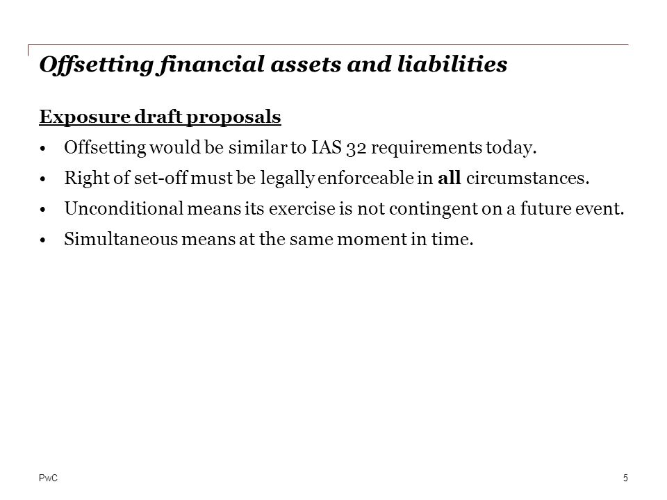 Balance Sheet Offsetting Of Financial Assets And Liabilities Ppt