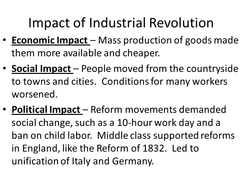 impact of industrial revolution on international trade Impact of the industrial revolution arts during the industrial revolution there were many artistic movements during the period of britain's industrialization, each of which was a reaction to the feelings of the time, as well as to the movement which had preceded it.