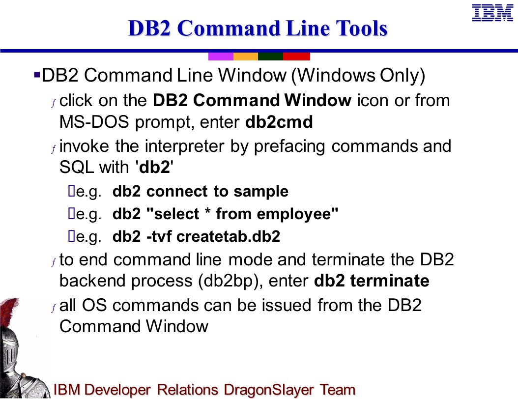 DragonSlayer Team Chapter 2: Getting Started with DB2 UDB