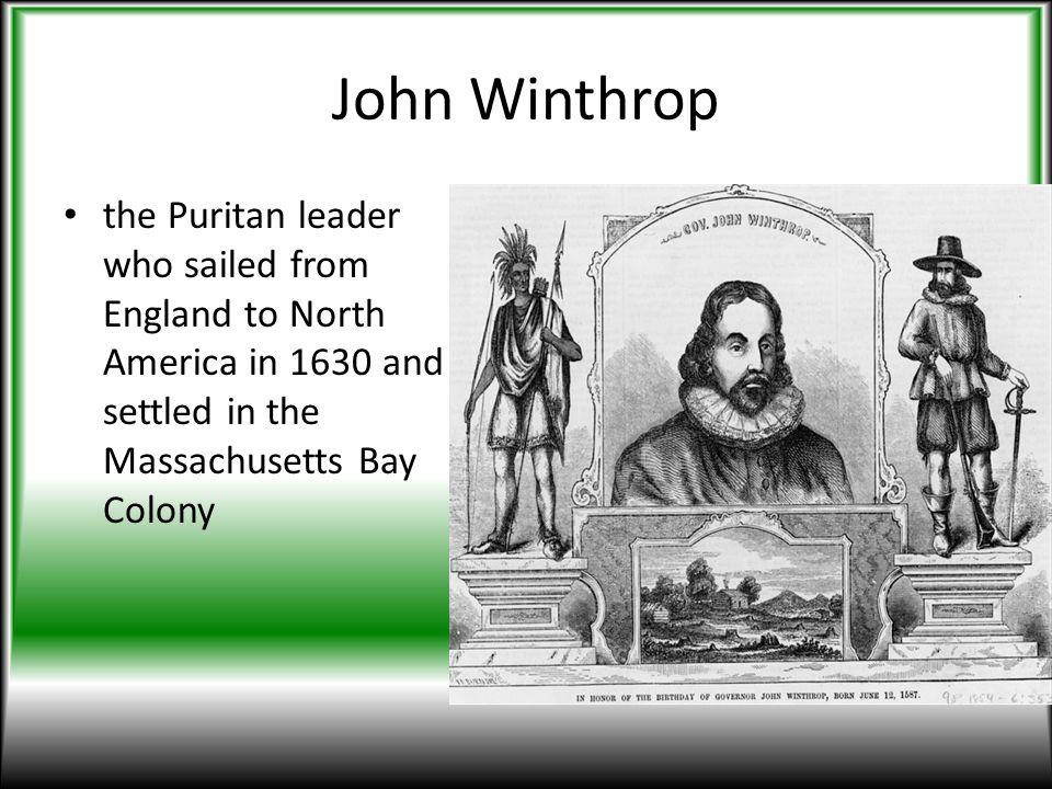 william bradford and john winthrop