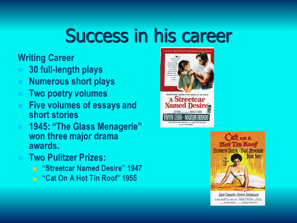 Tennessee Williams The Wounded Genius Early Years Born Thomas   Success  Literature Review Service User Involvement also Psychology As A Science Essay  Professional Writer