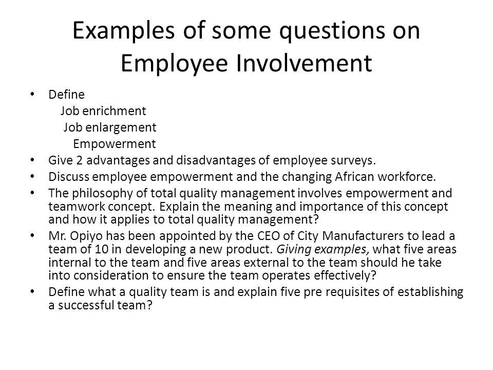 importance of employee involvement