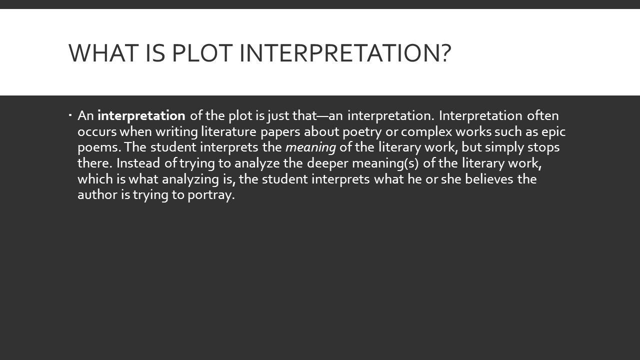 how to analyze a plot
