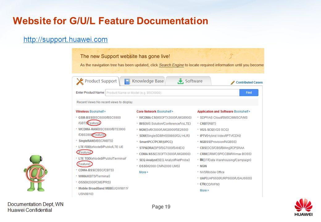 Improvements in Feature Documentation Documentation Dept, WN